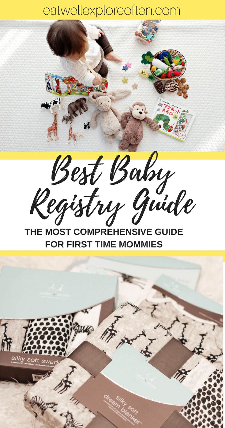 Eat Well, Explore Often - Best Baby Shower Registry - Your ULTIMATE